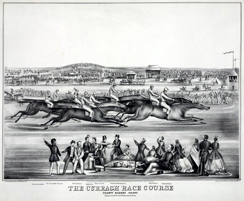 The Curragh race course, County Kildare Ireland - 1867