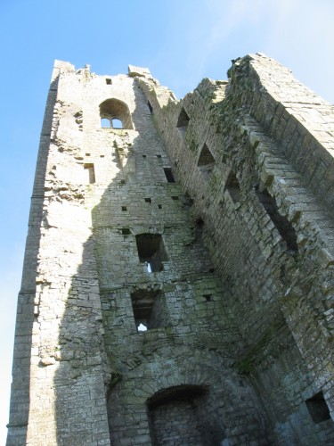 Looking up inside the ruins of The Yellow Steeple, St. Mary's Abbey
