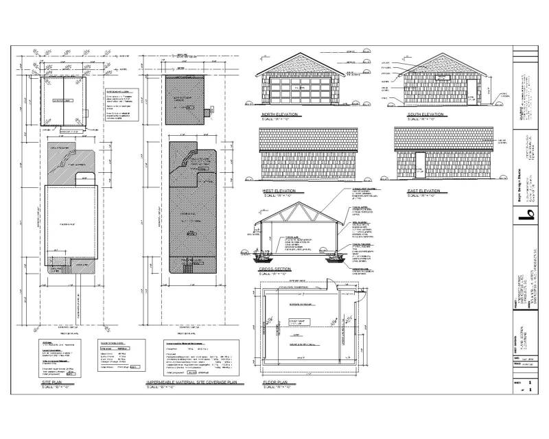 building permit drawing samples