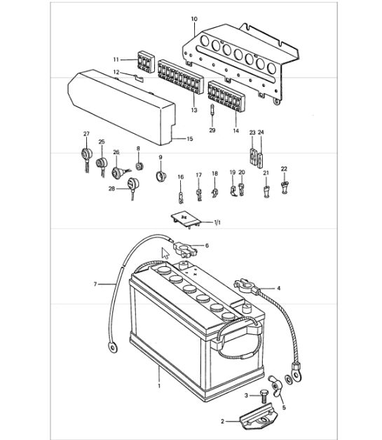 1974 porsche 911 wiring diagram mercury verado 5 pin relay plug connector with harness 90161233300 battery mounting plate 77