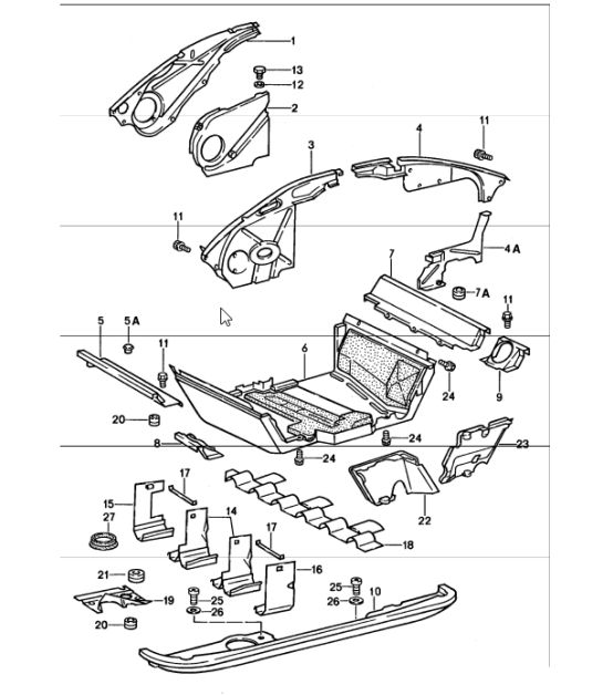porsche 911 engine diagram of parts 36 volt golf cart battery wiring buy 912 1965 1989 tin ware design air duct cover 1987 89