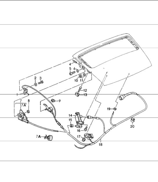 porsche 911 964 wiring diagram for motorcycle spotlights rear spoiler microswitch 96461310701 design driving mechanism carrera 2 4 rs turbo look