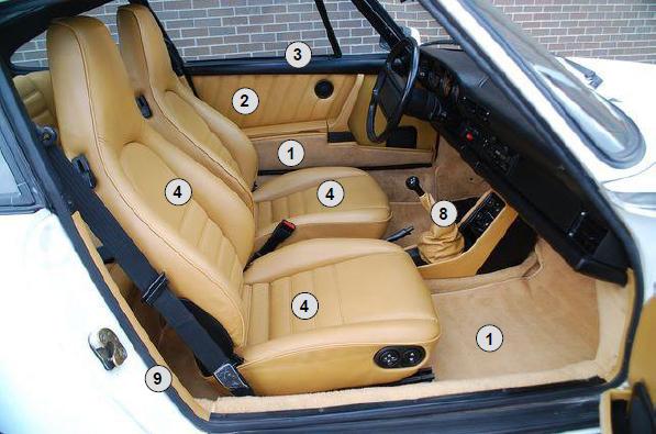 steering wheel diagram kenwood 16 pin wiring harness interior restoration kit. porsche 911 coupe 1974–1989 - interiorkit7489 | design