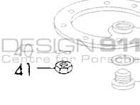 Nut for Oil Sump Plate. Porsche 356 / 911 65-73