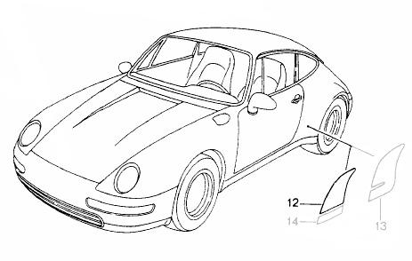 Buy Porsche 993 (911) (1994-1998) Stone Chip Foils