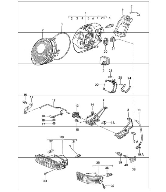 Porsche 986 Headlight Wiring Diagram. Porsche. Wiring