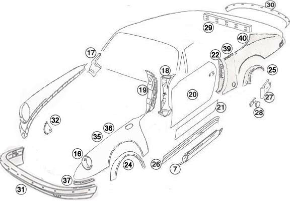Buy Porsche 964 (911) (1989-1994) Side Sill Panels