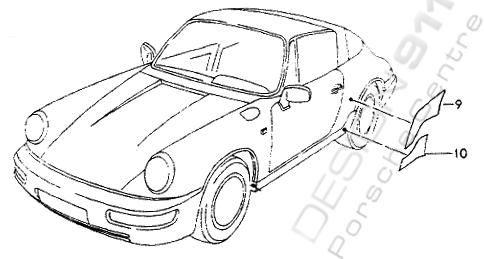 Buy Porsche 964 (911) (1989-1994) Stone Chip Foils