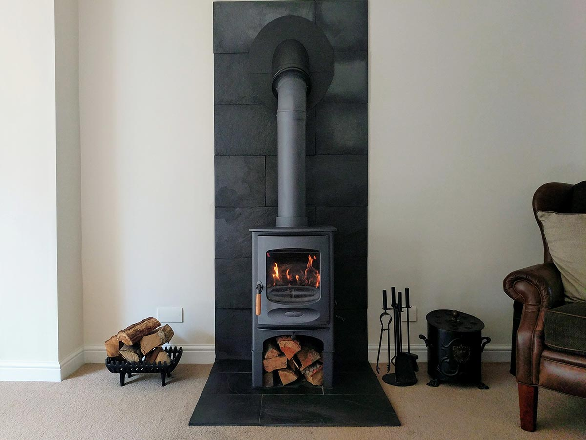 blue charnwood c six fireplace