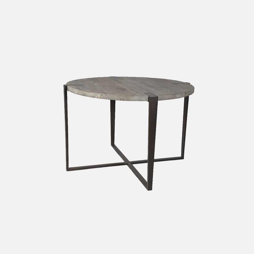Tavolo rotondo in legno e ferro mod Boom  Design Alpino