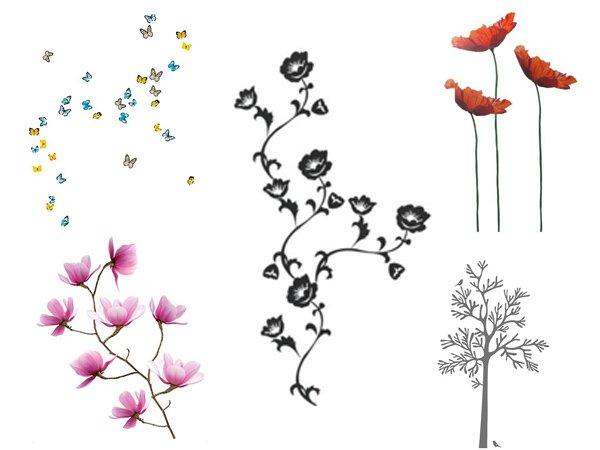 Adesivi murali Ikea stickers per la decorazione delle pareti