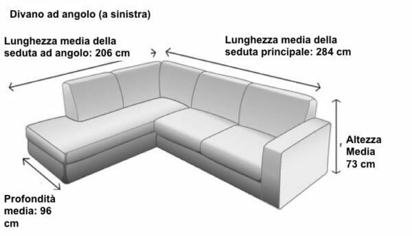 Divani ad angolo dimensioni vantaggi materiali ed opzioni anche letto