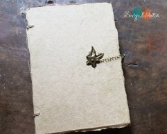handmade notebook with cover made from banana leaves