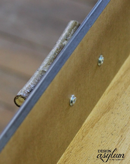 DIY: Make furniture handles from tree branches. It's easy and basically free!