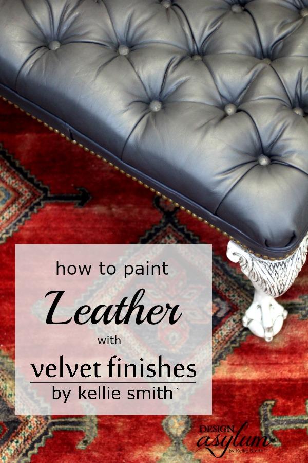 Paint leather with Velvet Finishes | Design Asylum Blog