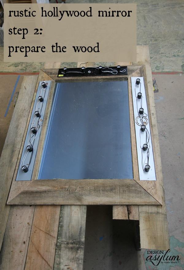 Build a rustic Hollywood mirror | Design Asylum Blog