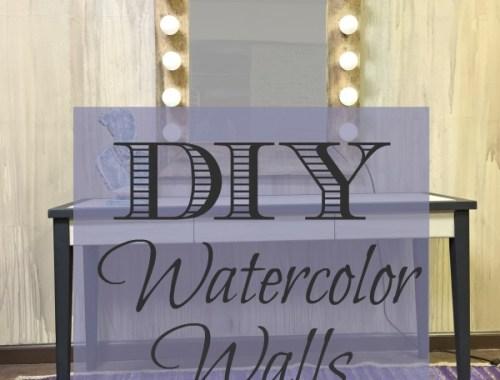 DIY: Watercolor Walls