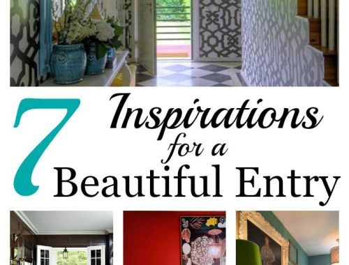Make sure your entrance is grand! 7 inspirations for a beautiful entry!