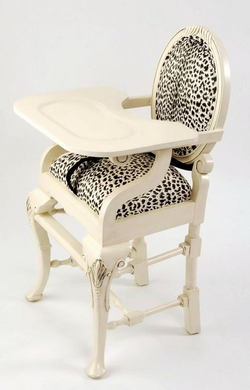 Neutral and Leopard High Chair - Soulful Velvet Finishes inspiration