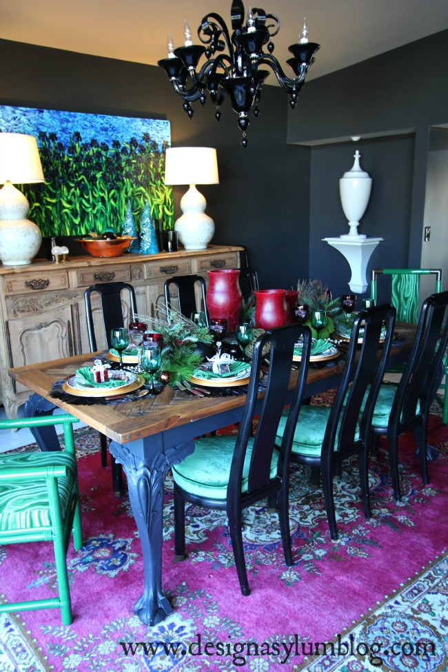 Tour this Christmas Home Tour full of modern looks and festive Christmas decor. A peacock tree, plaid and leopard, and non-traditional colors can be found here.