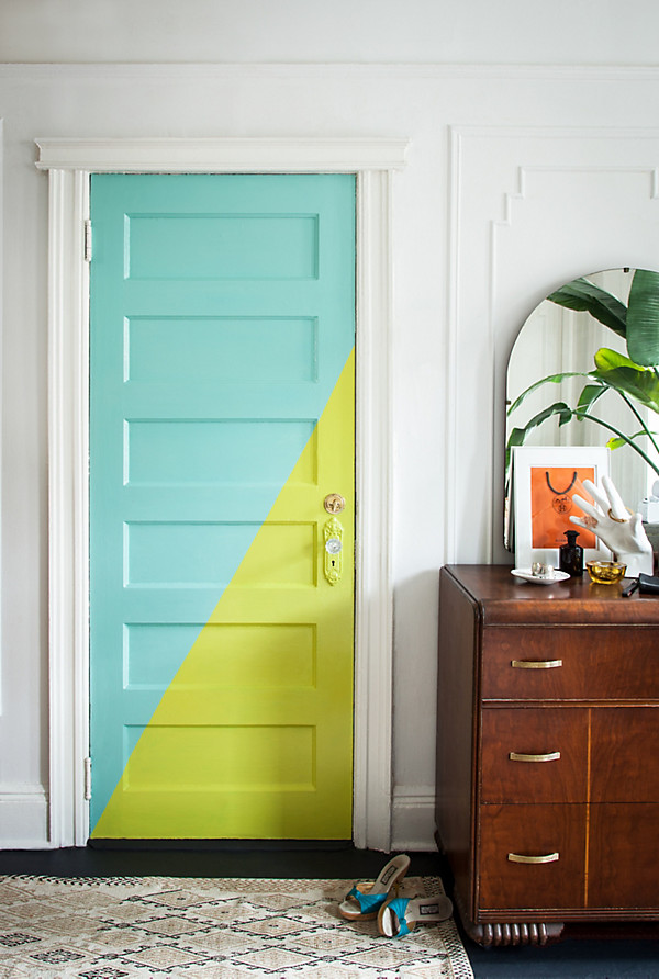 Think your interior doors are supposed to be white? Here's 11 boldly painted interior doors that will have you grabbing a paint brush!