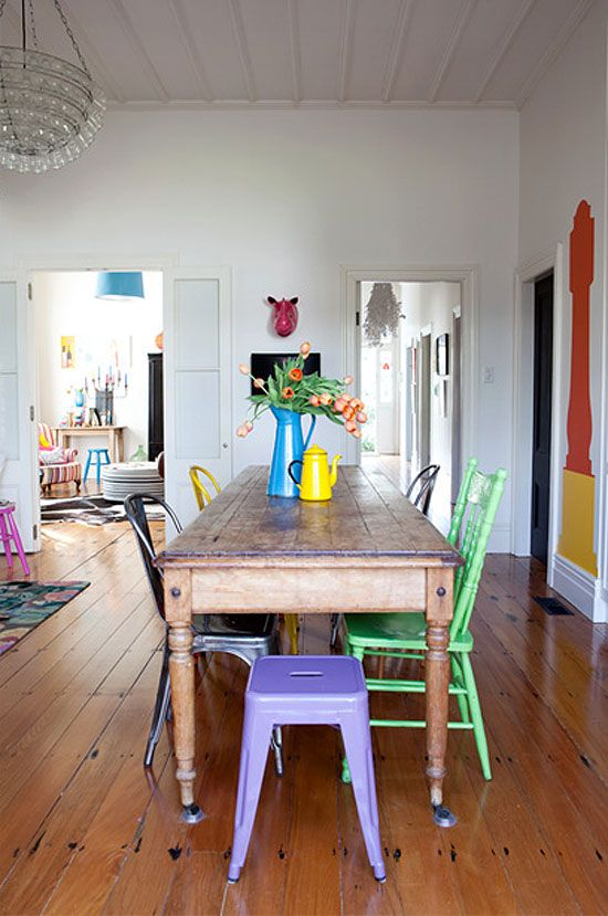 How to rock mismatched dining chairs design asylum blog for Stuhle set esszimmer