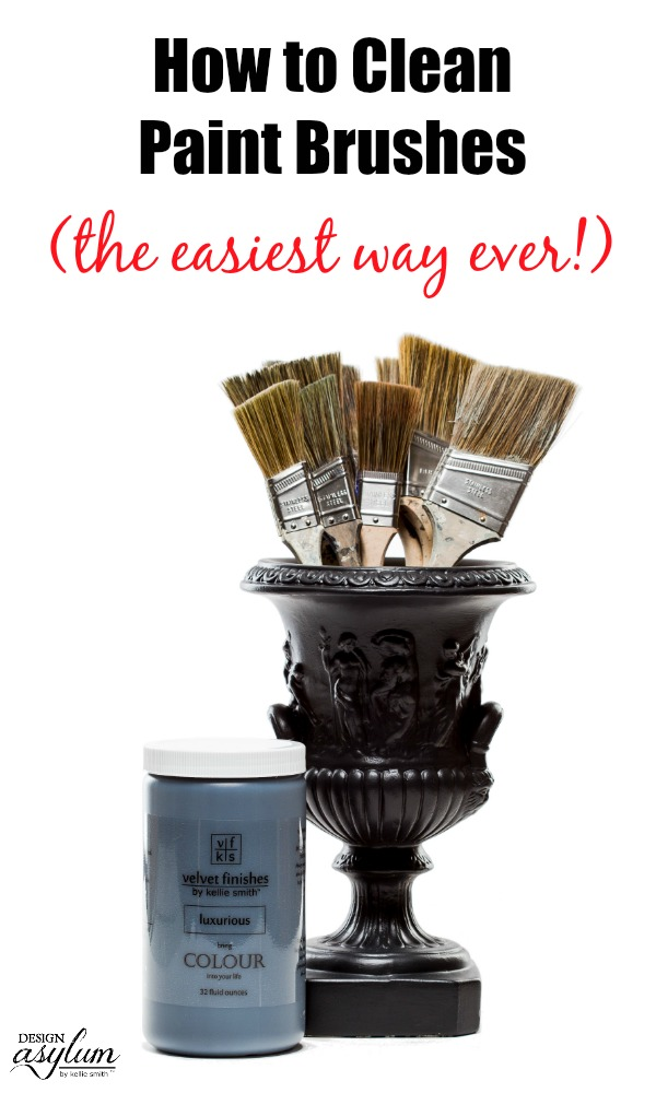 How to Clean Paint Brushes - the easiest way ever! Introducing the Reviver paint brush series from Velvet Finishes - available in 5 sizes!