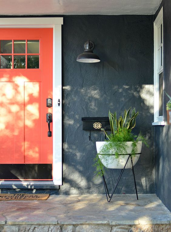 Color your world with these colorful front doors! Painted front doors are all the rage, get inspiration for your own at Design Asylum Blog!
