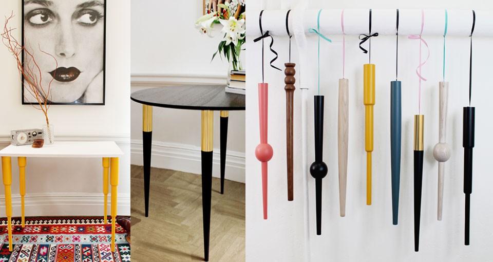 Al momento offrono dieci modelli con colori e dimensioni diverse per un totale di 60 opzioni tra cui scegliere. Gambe Per Mobili Design Pretty Pegs Design At Home Blog Di Arredamento
