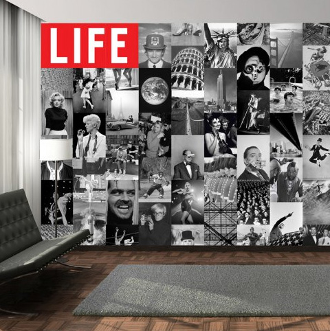 life icons collage carta da