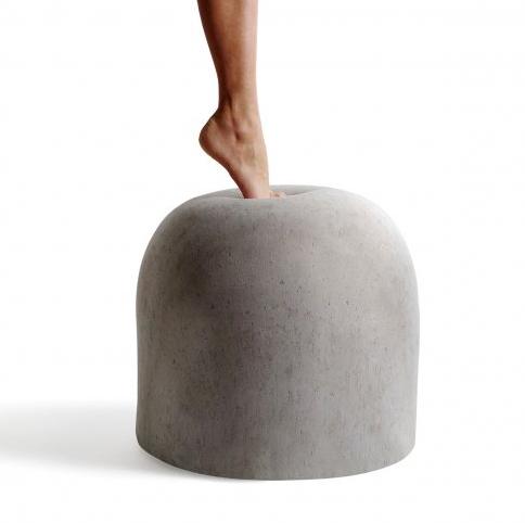 pouf finto cemento bard internoitaliano