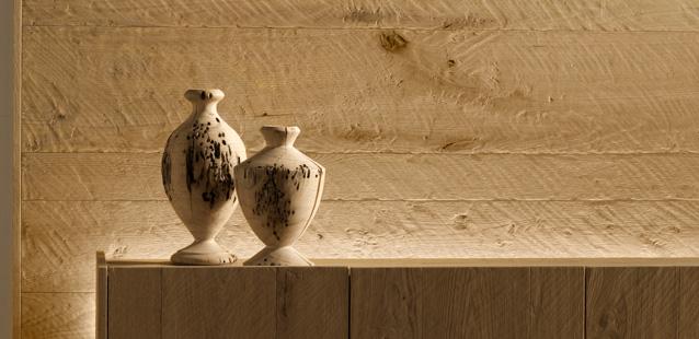 rivestimento parete boiserie in rovere