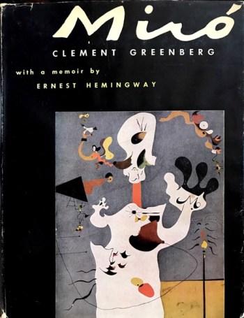 03_Clement Greenberg, Joan Miro', con un testo di Ernest Hemingway, The Quadrangle Press, 1950