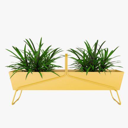 fioriera outdoor fermob basket giallo canarino