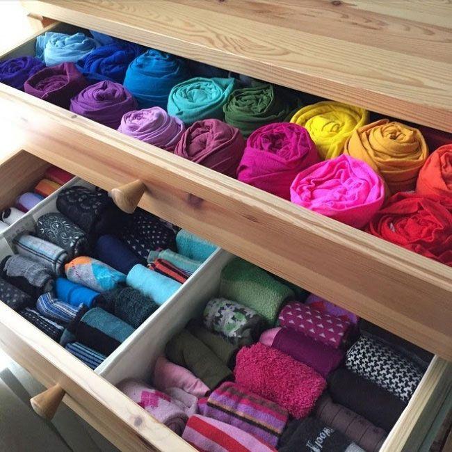 metodo konmari di marie kondo come riporre i vestiti nei cassetti
