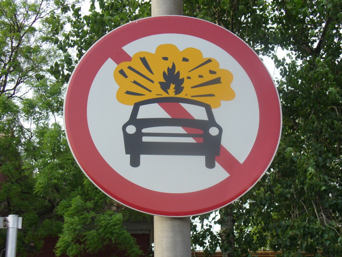 "Visual Communication in China: ""This is a no-car bomb area""!, originally uploaded by designative."