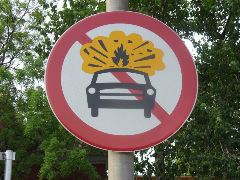 """Visual Communication in China: """"This is a no-car bomb area""""!, originally uploaded by designative."""