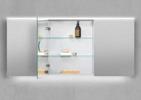 Spiegelschrank 160 cm integrierte LED Beleuchtung doppelt ...