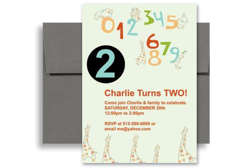 2 year old birthday invitation wording