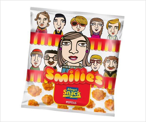 Smiles-snacks-peanuts-packaging-design