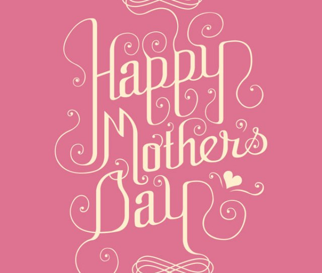 Pink Happy Mothers Day Card Design