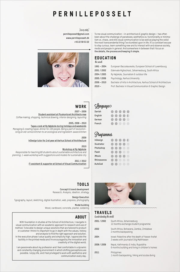 10 Interesting & Simple Resume Examples You Would Love To