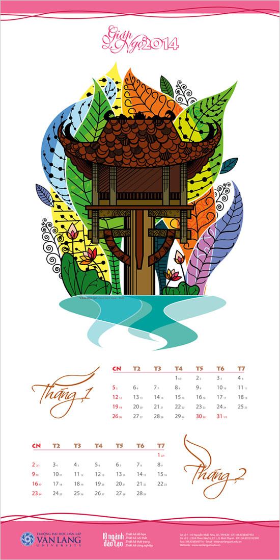 25 New Year 2014 Wall & Desk Calendar Designs For