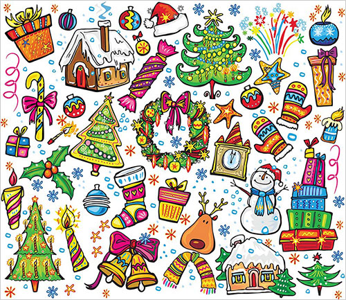 Christmas Decorations For Cards
