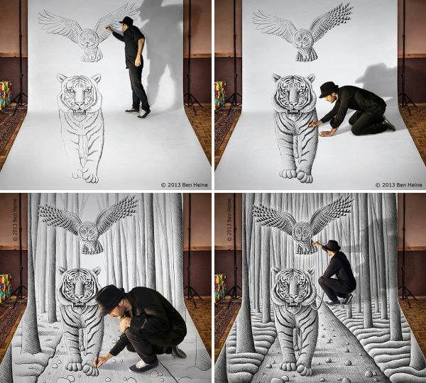 Amazing 3D Pencil Sketch Drawings