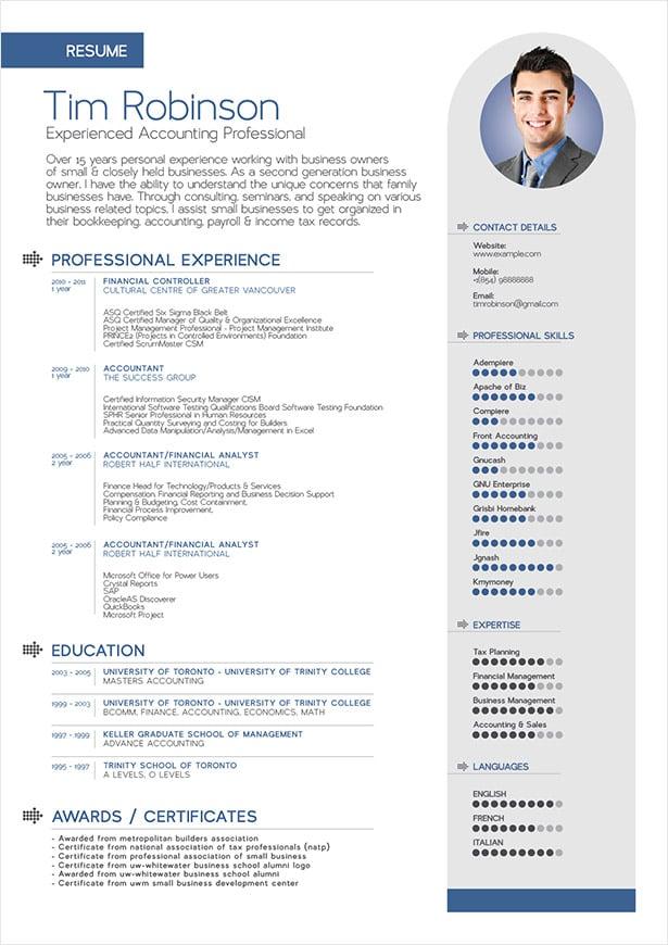 brief unique resume templates