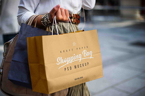 Download Graphicburger Shopping Bag Psd Mockup Yellow Images