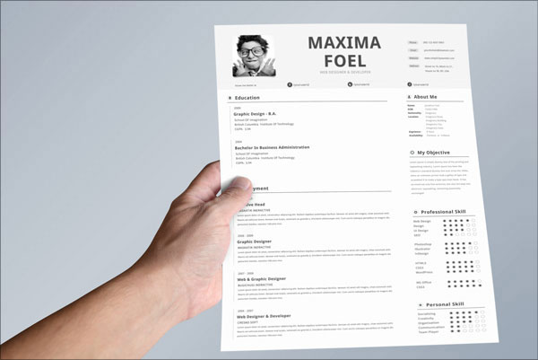 10 Best Free Resume CV Templates In Ai Indesign & PSD Formats