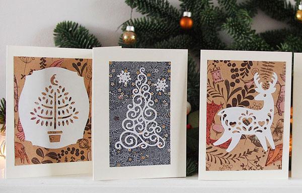30 Beautiful Diy & Homemade Christmas Card Ideas For 2014