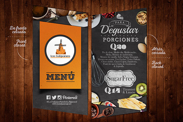 20 Beautiful Restaurant Cafe And Food Menu Designs For